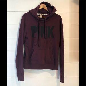 PINK size Medium Maroon Hoodie